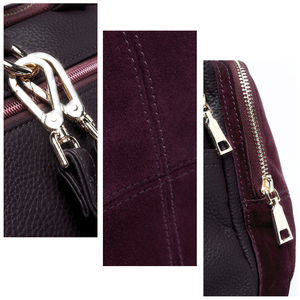 Image 5 - 2018 Brand New Women Real Suede Leather Shoulder Bag Fashion Leisure Doctor Hangbag For Female Hobe Top handle Bags Girls Sac
