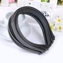 Новая 10 шт пустая простая металлическая повязка на голову 3 мм лента для волос аксессуары для волос DIY ремесло