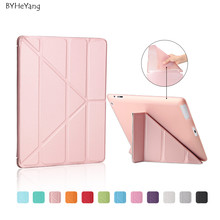 Ultra thin diseño stands pu leather case para ipad 3 4 2 Cubierta Colorida Del Tirón Smart cover cubierta elegante para iPad4 Table case