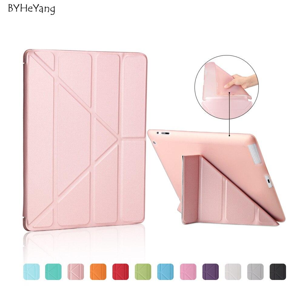 Ultra sottile del basamento di disegno dell'unità di elaborazione del cuoio case per ipad 3 4 2 Variopinta Della Copertura di Vibrazione Smart Cover Smart cover per iPad4 Da Tavolo case