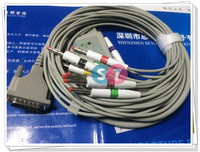 Schiller AT 1/AT 2 One Piece ECG Cable with 10 leadwires, Banana 4.0 End IEC with screw