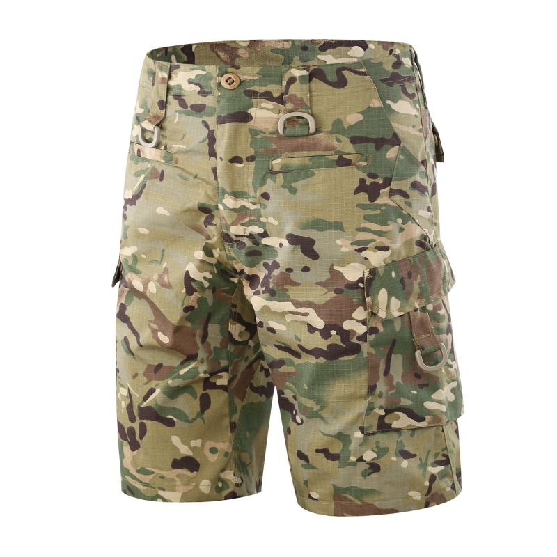 Men Outdoor Riding Climbing Training Fast Dry Cargo Shorts Male Summer Sports Breathable Wearproof Army Tactical Short Trouser