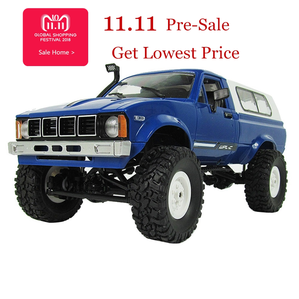 Children Toys kid RC Car 1:16 2.4G Remote Control 4WD WPL C24 Military Rock Buggy Truck Car Toy Top Remote Control birthday Gift