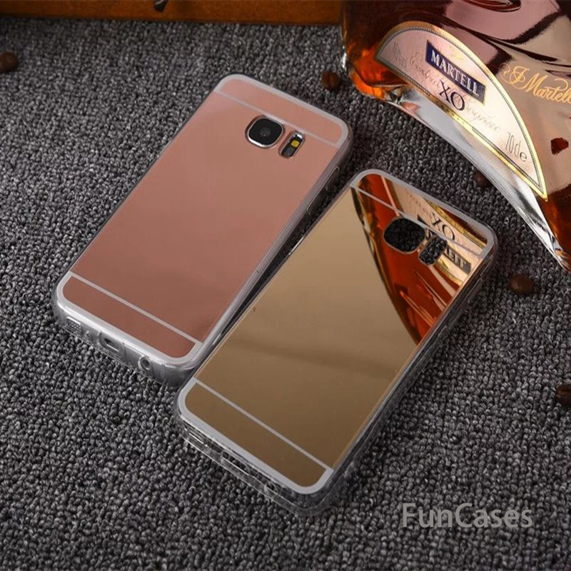 Mirror Effect Soft TPU Case For <font><b>Samsung</b></font> Galaxy Note 9 S6 S7 Edge Grand Prime A3 A5 A7 J3 J5 J7 2017 S8 S9 <font><b>A8</b></font> Plus J4 J6 A7 <font><b>2018</b></font> image