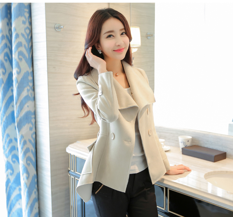 Chun xia han edition   trench   coat female leisure show thin short small coat of the spring and autumn period and the 2017 new tide