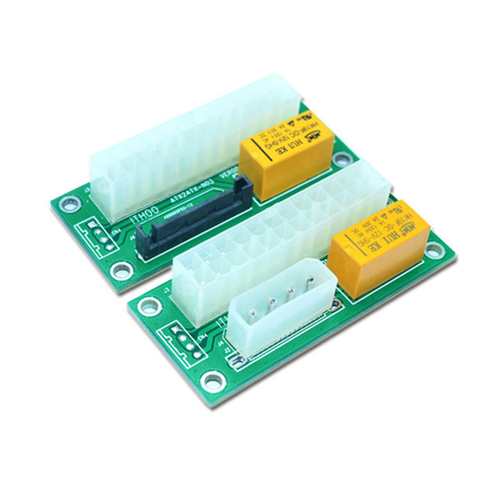 Power Supply Line 24Pin To 4Pin Molex Dual PSU Sync Starter and  Extender Cable Card For Bitcoin Miner Machine QJY99 cable 18cm 2 way 4 pin psu power splitter cable lp4 molex 1 to 2 drop shipping cabo 17july18