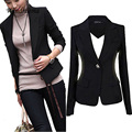 Fashion New Women Leisure Blazer Slim Blazer Feminino Office Lady Wear One Button Jacket Suit Jaqueta Feminina