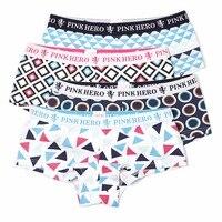 4 stks/partij Ondergoed Vrouwen Slipje Katoen Roze Heroes Unipue Fashion Design Hoge-end Leuke dame Slipje S/M/L/XL