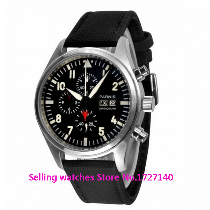 Second Hand Watches >> Us 79 5 25 Off 42mm Parnis Black Dial Red Second Hand Stainless Steel White Marks Quartz Watch In Quartz Watches From Watches On Aliexpress