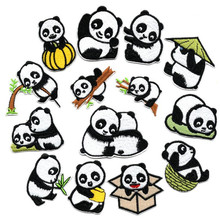 Animal Panda Badge Repair Patch Embroidered Patches Iron On For Clothing Close Shoes Bags Badges Embroidery