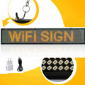 Yellow Led sign -50cm Android WIFI wireless Remote Control Programmable Scrolling Message LED Advertising Display Board
