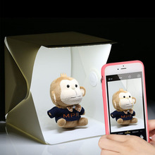 Складной мини светодиодный лайтбокс световой тент портативный Фотостудия софтбокс световой короб для iPhone Samsang смартфона или DSLR камеры