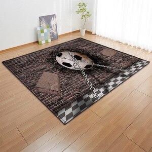 Image 3 - Alfombra con estampado 3D para niños alfombra con estampado 3D para baloncesto, sala de estar, juegos de fútbol, regalo de cumpleaños