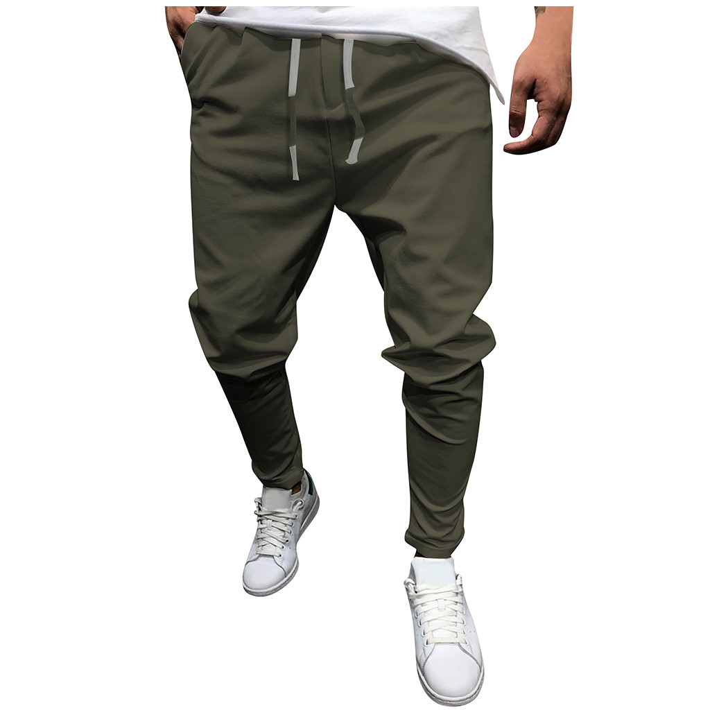 Summer New Fashion Casual Men's Tie With Solid Color Eight-color Pants Pantalones Hombre Streetwear Joggers Pantalon Homme