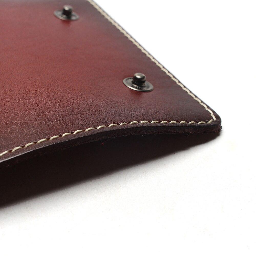Купить с кэшбэком Vintage 100% Genuine Leather Key Wallet Women Keychain Covers Zipper Key Case Bag Men Key Holder Housekeeper Keys Organizer