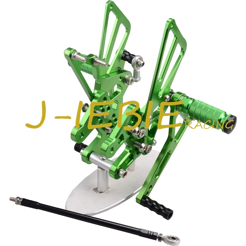 CNC Racing Rearset Adjustable Rear Sets Foot pegs Fit For Suzuki GSXR1000 GSXR 1000 2007 2008 K7 GREEN cnc racing rearset adjustable rear sets foot pegs fit for ducati streetfighter 848 1098