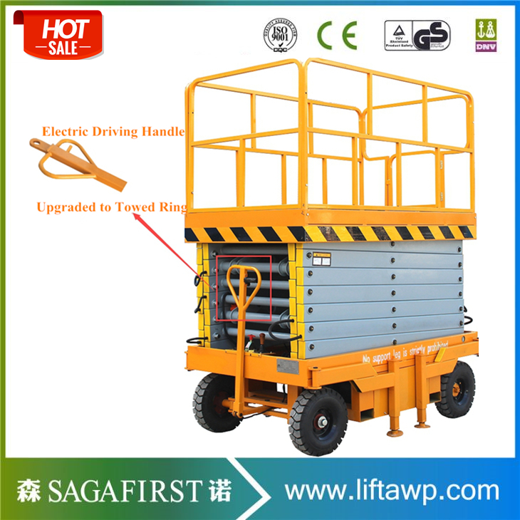 Automatic Battery Powered Self Propelled 10m Scissor Lift For Sale