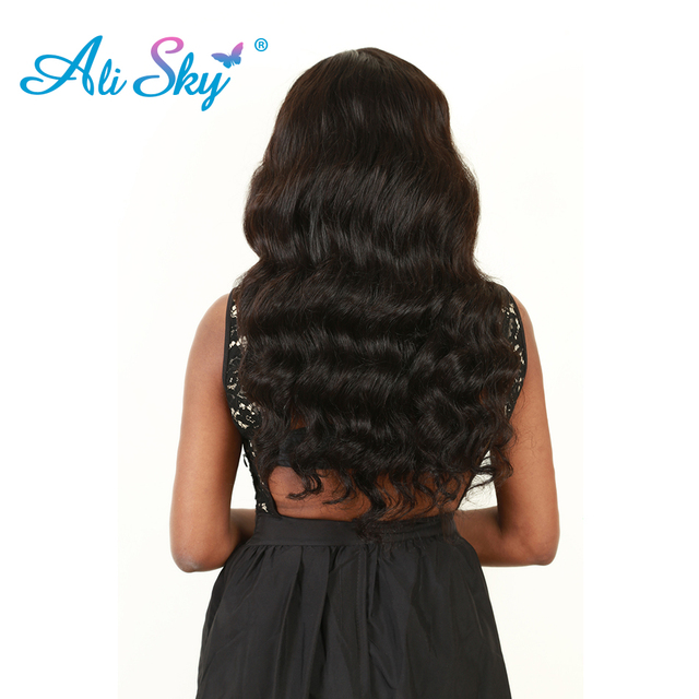 Ali Sky Peruvian Body Wave Remy Human Hair Extension 8 26 Inch 1pc