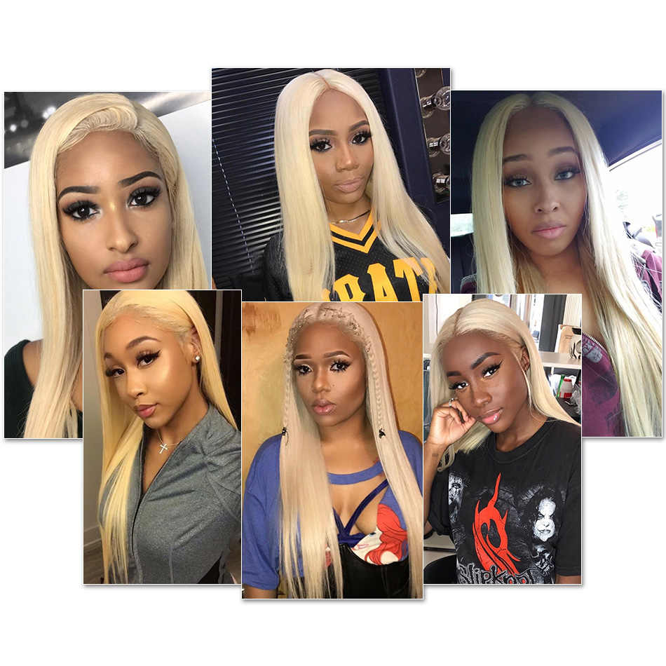Wigirl бразильские прямые волосы светлые волосы на Трессах 1/3/4 шт. блондинка полный 613 Цвет Remy 100% Пряди человеческих волос для наращивания 8-30 дюймов