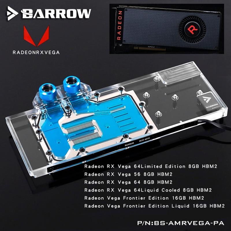 BROUETTE Pleine Couverture Carte Graphique Bloc utiliser pour AMD Radeon RX VEGA 64/Référence Édition VEGA 56 Frontière GPU radiateur AURA