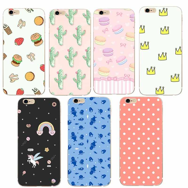 Cell Phone Case For Iphone 7 Case Cover Silicone TPU Cover Cases For Iphone 8 7 Plus 6 6S 5 5S SE X XS Luxury Case Fundas Capa