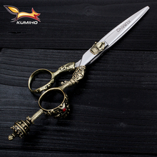KUMIHO master professional hair scissors with crown handle barber scissors salon tools hair cutter anf thinner hot selling
