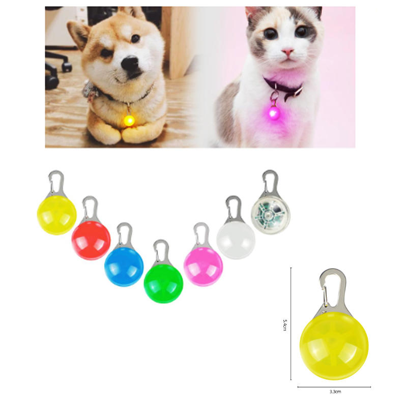 Pet Safety Night Light Lamp Cat Dog Collars Pendant Glowing Flash Light Luminous Bright In Dark Pet Supplies Colorful RGB