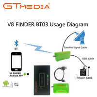 GTMEDIA Mini Satellite finder Bluetooth DVB-S2 V8 Finder BT03 Satfinder Supports Android ios System And iphone For HD 1080p