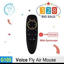 Новый G10S Голос Air Мышь 2,4 ГГц Беспроводной Google микрофон дистанционного Управление ИК обучения 6 оси гироскопа для Android ТВ Box PC