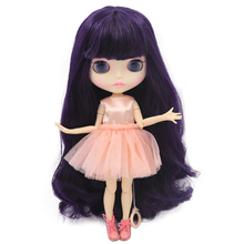 ICY Neo Blythe Doll Deep Purple Hair Jointed Body 30cm