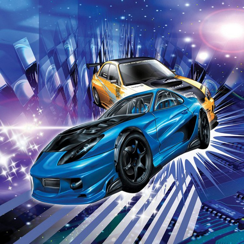 Photo Wallpaper 3D Car Mural KTV Bar Hotel Background