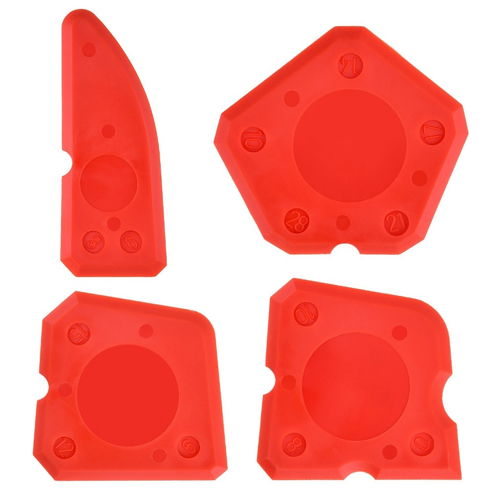 Free Shipping 4 Pieces Caulk Tool Kit Sealant Silicone Finishing Tools Caulking Tool Sealant Scraper Kit