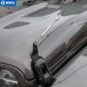 Image 2 - MOPAI araba kaput mandalı kilit engel ortadan kaldırmak halat aksesuarları Jeep Wrangler JL 2018 + için gladyatör JT 2018 +