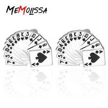 Memolissa рубашка запонки для мужчин бренд покер Эмаль Запонки