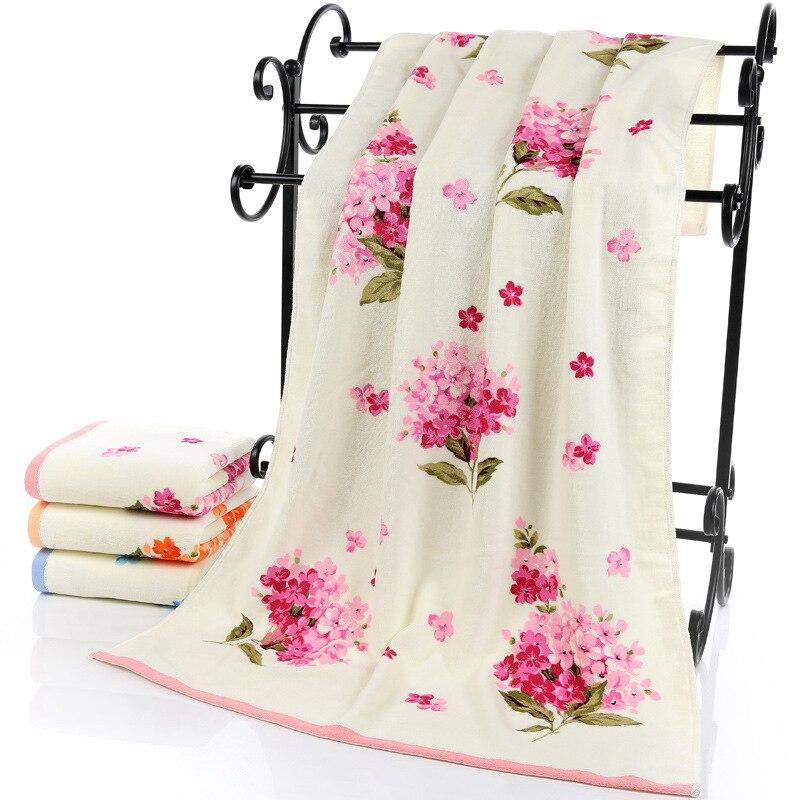 Serviettes de Bain en coton à motif Floral 75*140 cm pour adultes, serviettes de Bain en éponge de plage, Serviette de Bain à fleurs, Serviette de Bain