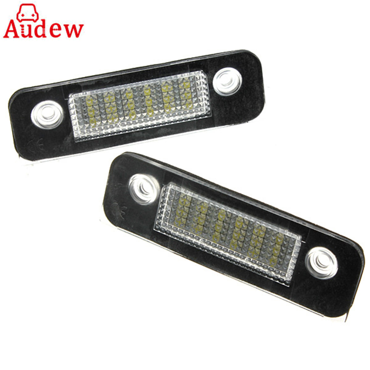 2Pcs For Ford Fusion 12V 18 LED Car License Plate Light White Number Plate Lamps Light SMD for Mondeo/MK2 for Fiesta MK5 hot 2pcs error free 3528 smd 18 led car led license number plate light lamp white for bmw e46 4d sedan 5d wagon 12v