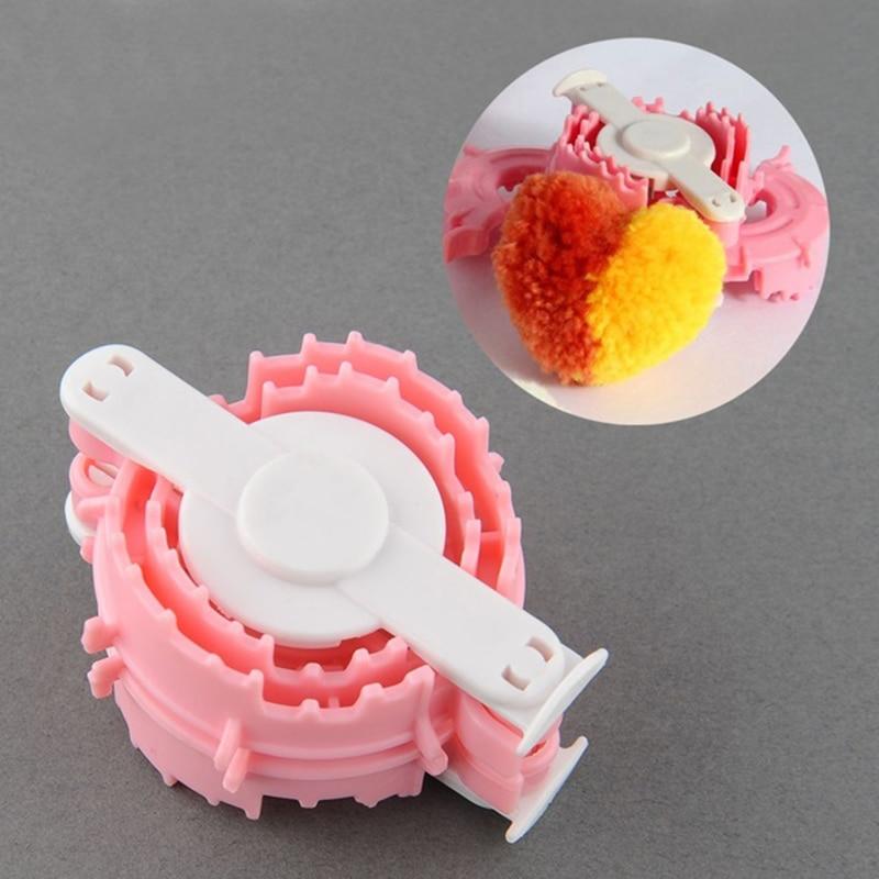 Knitting Loom Pom Pom Maker : Pc essential heart shape pom maker kids cloths