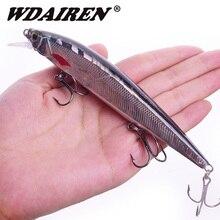 1Pcs Minnow Fishing Lure Laser Hard Artificial Bait 3D Eyes 14cm 18.5g Fishing Wobblers diving Crankbait Minnows Pesca FA-595