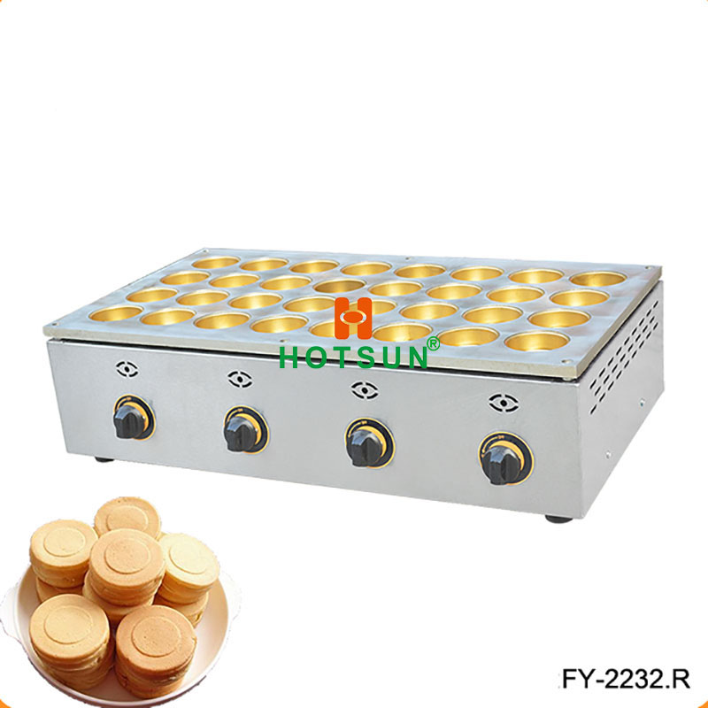 32pcs 6.8x2.3cm LPG Gas Copper Obanyaki Dorayaki Pancake Red Bean Waffle Maker Baker Machine hot sale 32pcs gas bean waffle maker