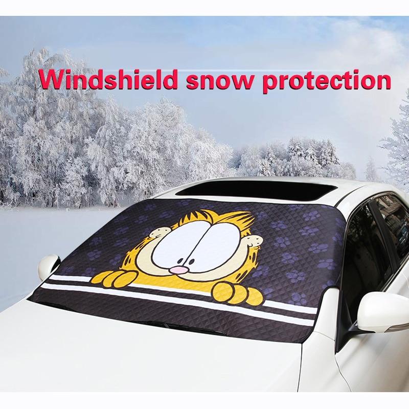 WeSheU Brand New 2018 Windowshield Sunshades Cute Cartoon Garfield Car Sun Shade Styling Car Window Foils Windshield sunshade