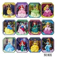 12 pçs/set Disney Princess Royal Histórias Merida figuras Aladdin Eugene Fitzherbert Rapunzel figura de ação para crianças presentes modelo 6CM