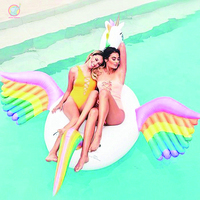 250CM Inflatable Giant Unicorn rainbow Color Pegasus pool float Swimming Ring Toy For Adult Kid holiday Beach party Air Mattress