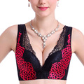 Seamless No rims bra Adjustable gather brassiere sexy lace Deep V bra sutian women underwear plus size up bra sosten bralette