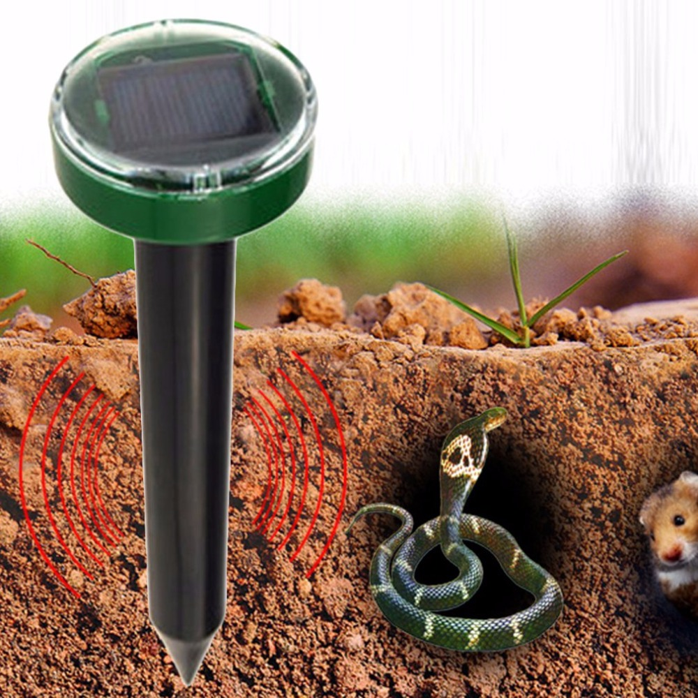 Solar Power Ultrasonic Pest Repeller Chaser Gopher Mole Snake Mouse Pest Reject Repeller For Garden Yard Drop Shipping