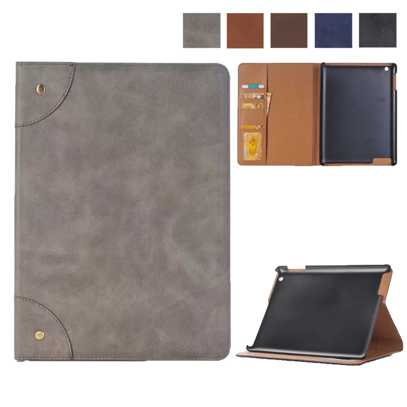 Wallet Case for iPad 2 3 4, Matte PU Leather Smart Cover Folio Case Stand with Auto Sleep/ Wake Function Cover for iPad 2 3 4 folio wallet cross texture leather cover case for iphone 7 smile