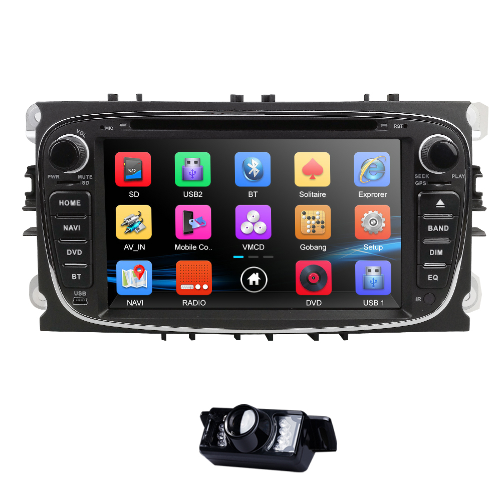 Mirror link 7 inch Car DVD Player For Ford Focus 2 S-Max C-Max Mondeo 4 Galaxy Kuga 2008-2010 2Din RDS DAB+ OBD2 DVR Free cameraMirror link 7 inch Car DVD Player For Ford Focus 2 S-Max C-Max Mondeo 4 Galaxy Kuga 2008-2010 2Din RDS DAB+ OBD2 DVR Free camera