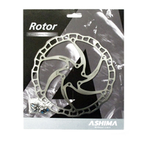 Ashima ARO 08 Ultra Light Weight Stainless Steel Bike Brake Rotor Disc 160mm 180mm 6 Bolt Silver