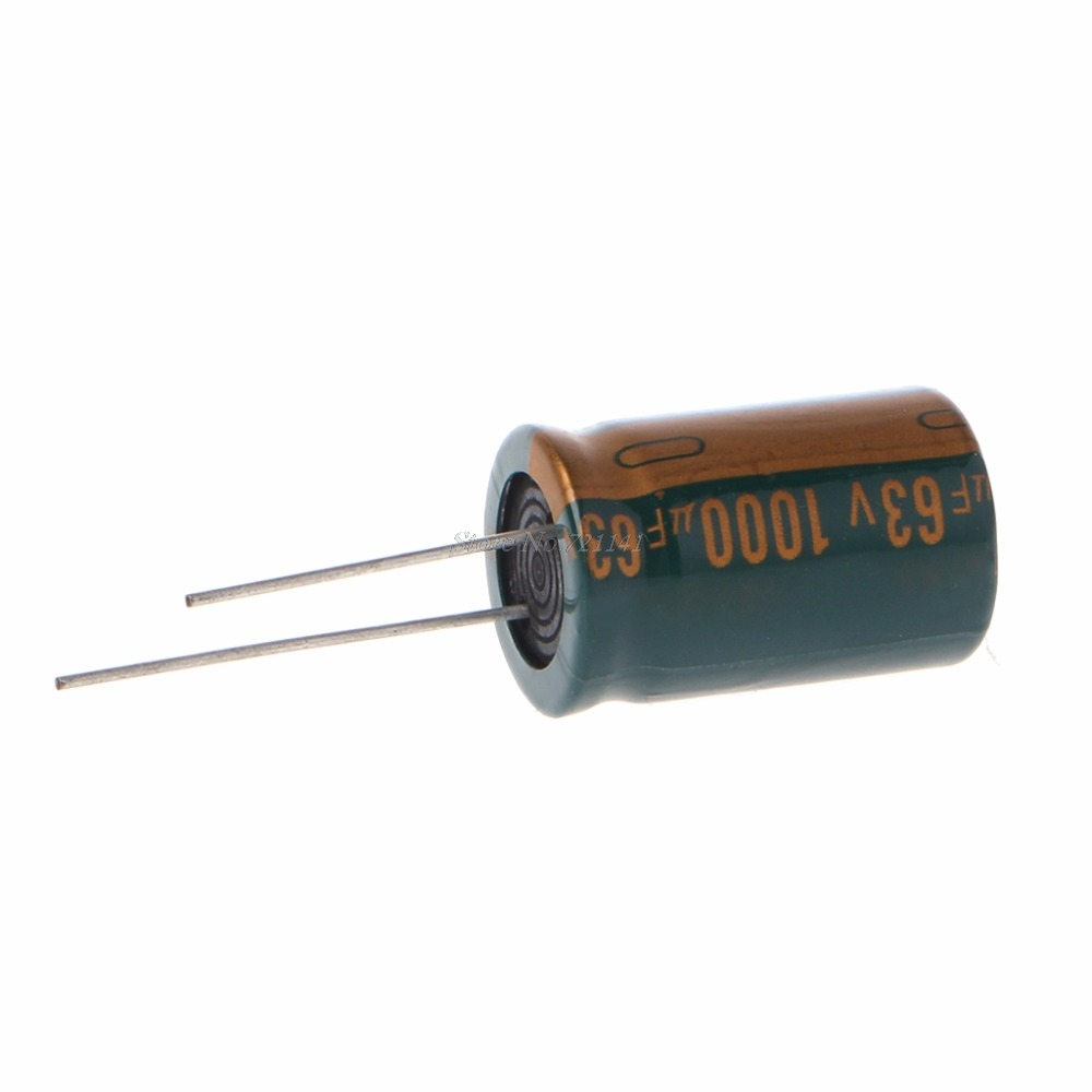 63V 1000uF Capacitance Electrolytic Radial Capacitor High Frequency Low ESR Dropship