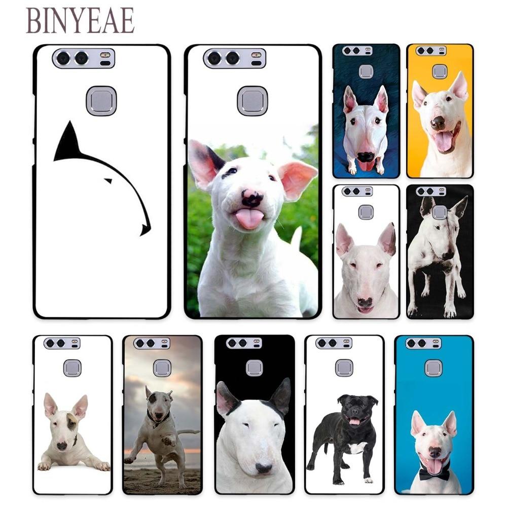 BINYEAE Bullterrier bull terrier Style hard black Phone Cases for Huawei Mate 10 9 8 S P8 P9 P10 Lite 2017