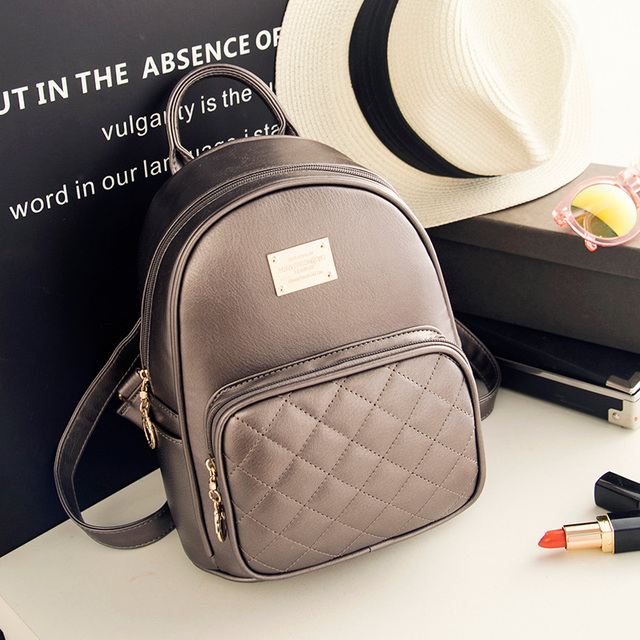 Us 3029 49 Offwomen Casual Fashion Backpack Female College Student Satchel Mini Backpack Sweet Pretty Schoolbag Ladies Travel Shoulder Package In